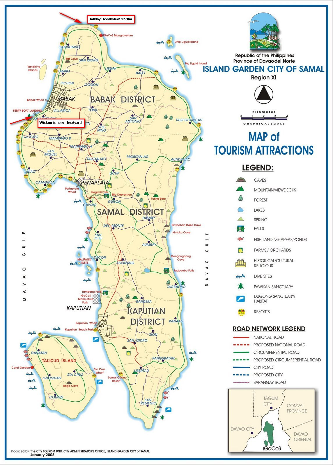 Mambago Samal Island Map
